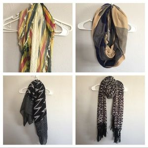 Accessories - Bundle of 4 Scarves